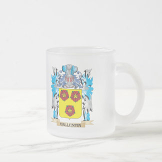 Vallentin Coat of Arms - Family Crest Frosted Glass Mug