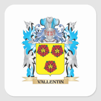 Vallentin Coat of Arms - Family Crest Square Sticker
