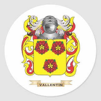 Vallentin Family Crest (Coat of Arms) Round Stickers
