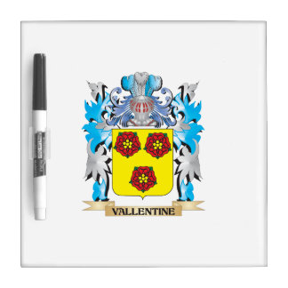 Vallentine Coat of Arms - Family Crest Dry-Erase Whiteboard