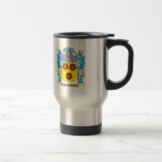 Vallentine Coat of Arms - Family Crest Stainless Steel Travel Mug