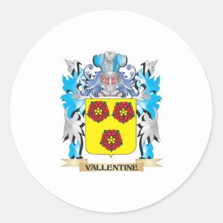 Vallentine Coat of Arms - Family Crest Round Sticker