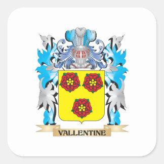 Vallentine Coat of Arms - Family Crest Square Sticker