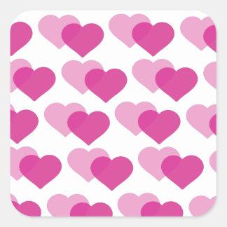 Vallentine´s day square stickers