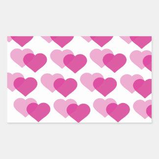 Vallentine´s day rectangle sticker