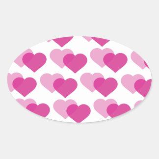 Vallentine´s day oval stickers