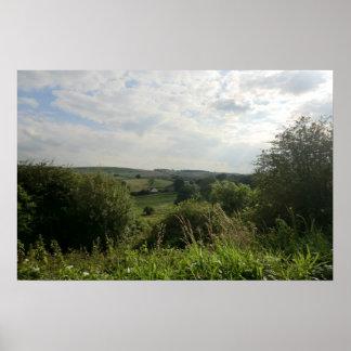 Valles de Derbyshire en el distrito máximo Póster