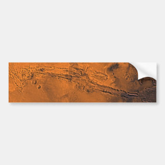 Valles Marineris Canyon System on Mars Bumper Sticker
