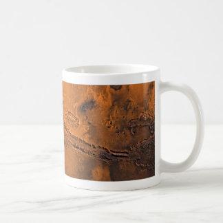 Valles Marineris Canyon System on Mars Classic White Coffee Mug