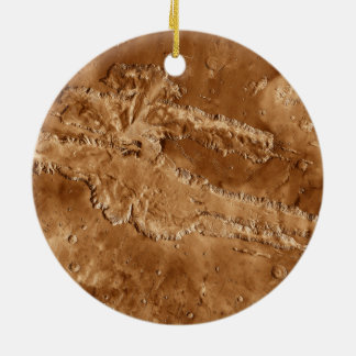 Valles Marineris Canyons of Mars Ceramic Ornament