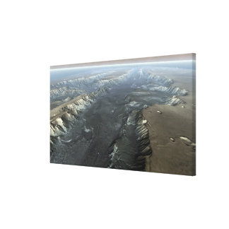 Valles Marineris, the Grand Canyon of Mars Canvas Print