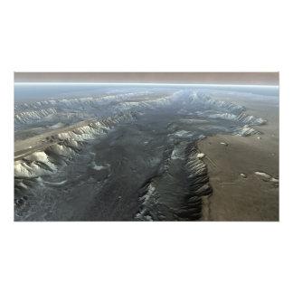Valles Marineris, the Grand Canyon of Mars Photo Print