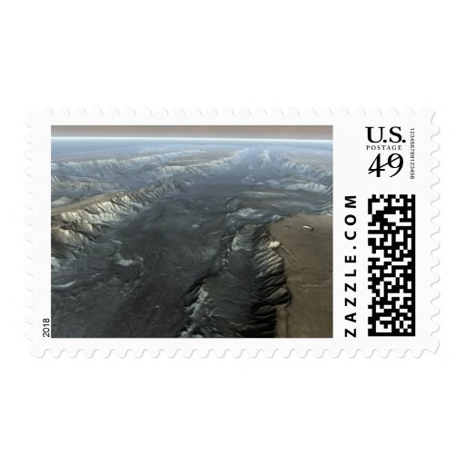 Valles Marineris, the Grand Canyon of Mars Postage Stamps