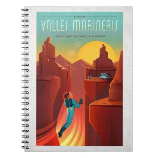 Valles Marineris Vacation on Mars Illustration Spiral Notebook