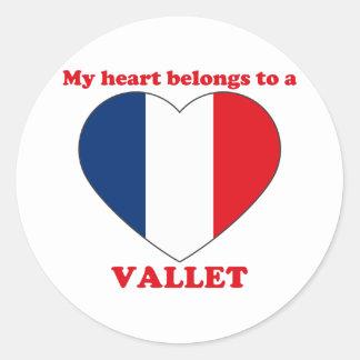 Vallet Classic Round Sticker