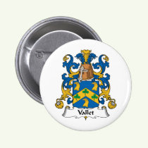 Vallet Family Crest Button
