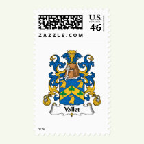Vallet Family Crest Stamps