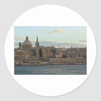 Valletta Classic Round Sticker