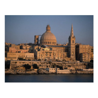 Valletta, from Sliema Bay, Malta Postcard