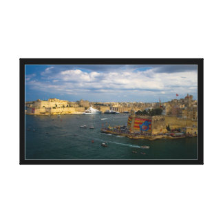 Valletta Harbor (Island of Malta) Canvas Print