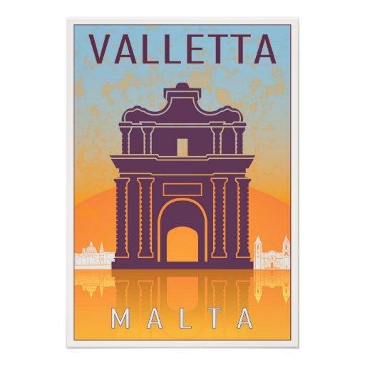 Valletta Vintage poster Cojinete