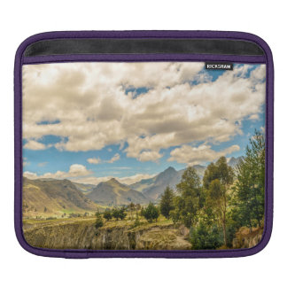 Valley and Andes Range Mountains Latacunga Ecuador iPad Sleeve