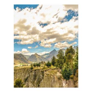 Valley and Andes Range Mountains Latacunga Ecuador Letterhead