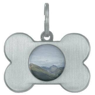 Valley between mountains pet ID tag