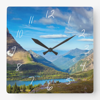 Valley Beyond Square Wall Clock