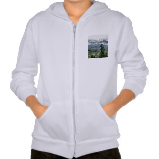 Valley deep below and hills right in front hoodie