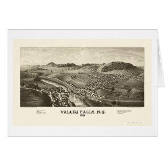 Valley Falls, NY Panoramic Map - 1887 Card