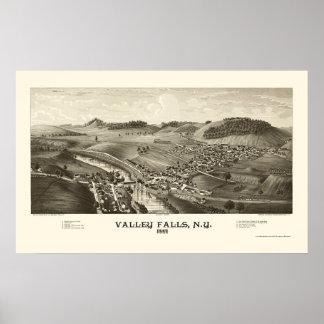 Valley Falls, NY Panoramic Map - 1887 Poster