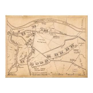 Valley Forge Encampment Map (Dec. 1777-June 1778) Canvas Print