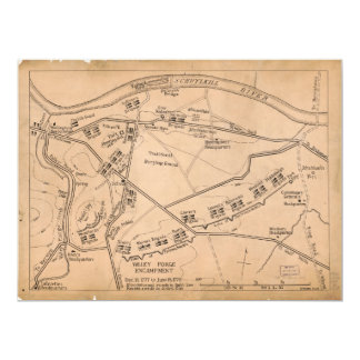 Valley Forge Encampment Map (Dec. 1777-June 1778) Card