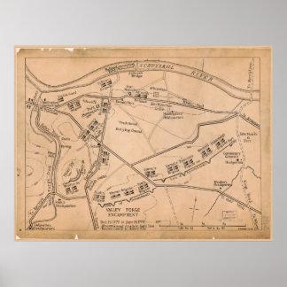Valley Forge Encampment Map (Dec. 1777-June 1778) Poster