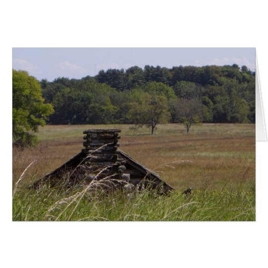 Valley Forge Log Cabin Notecard