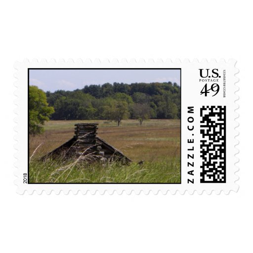 Valley Forge Log Cabin Stamp