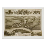 Valley Forge, PA Panoramic Map - 1890 Poster