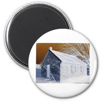 Valley Forge, Pa Schoolhouse (Modified Colors) 2 Inch Round Magnet