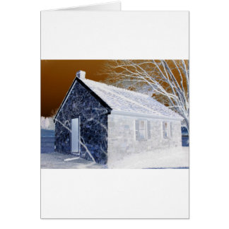 Valley Forge Pa Schoolhouse Modified Colors Greeting Cards