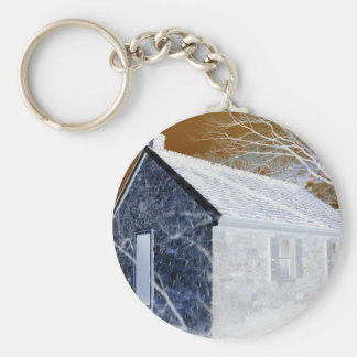 Valley Forge, Pa Schoolhouse (Modified Colors) Keychain