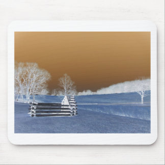Valley Forge, Pa unfinished cabin--Modified Colors Mouse Pad