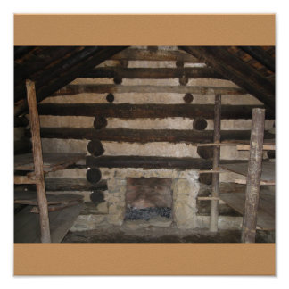 Valley Forge, Pennsylvania. Inside Soldiers Cabin Print