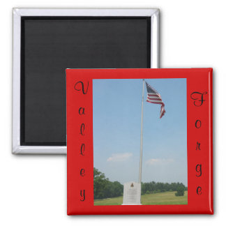 Valley Forge (red)Magnet 2 Inch Square Magnet