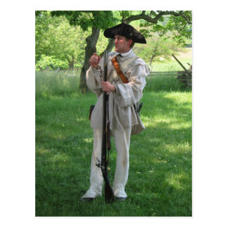 Valley Forge Reenactment Postcard