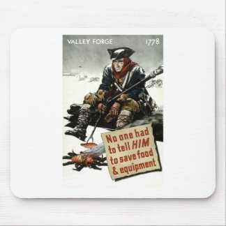 Valley Forge Soldier -- WW2 Propaganda Mouse Pad