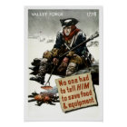 Valley Forge Soldier -- WW2 Propaganda Poster