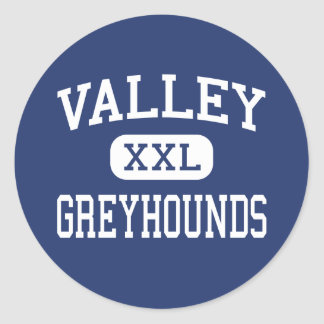 Valley - Greyhounds - High - Smithers Classic Round Sticker