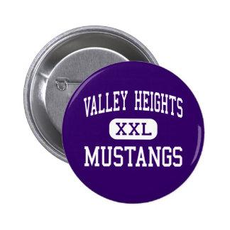 Valley Heights - Mustangs - High - Blue Rapids Pinback Button