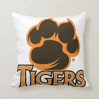 Valley High School Iowa Tiger Paw Throw Pillow
